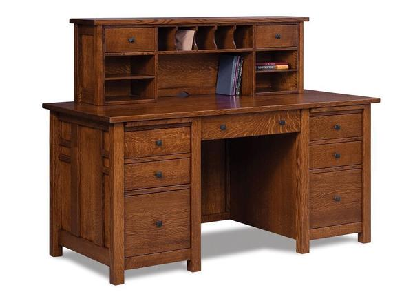 Amish Kascade Desk with Topper