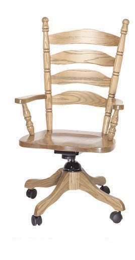 Amish Ladder Back Office Desk Chair