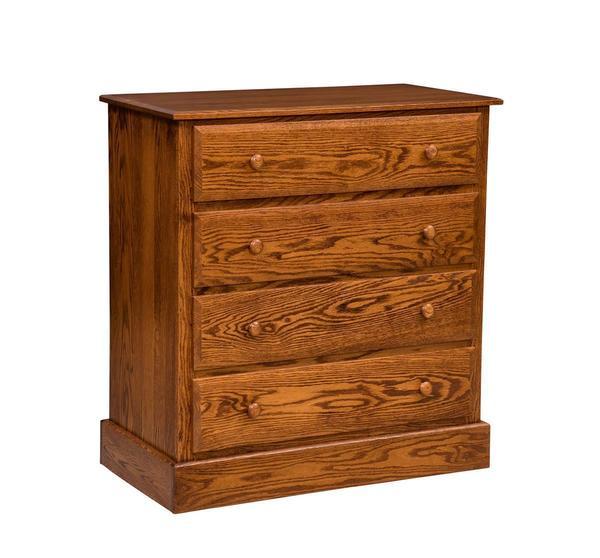Amish Reversible Four-Drawer Children's Dresser