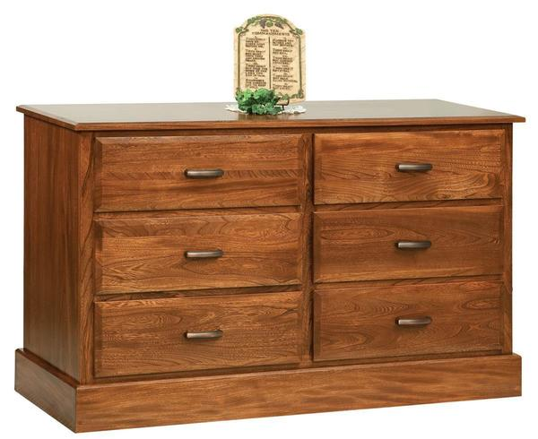 Amish Six Drawer Reversible Dresser