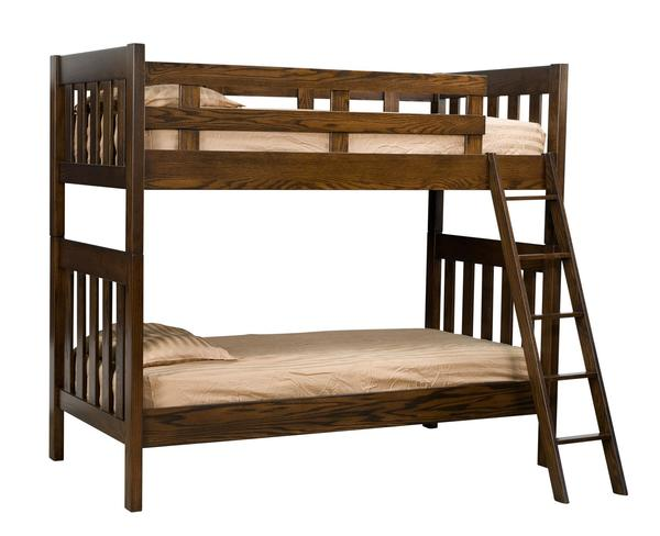 Twin Over Twin Mission Kids Bunk Bed From Dutchcrafters Amish