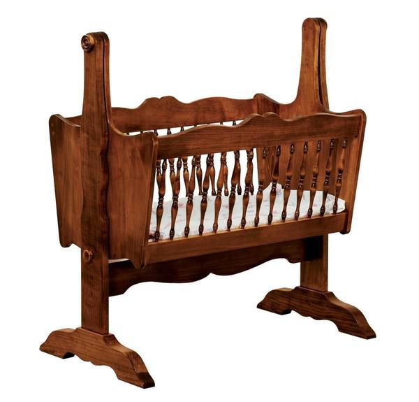 Amish Colonial Classic Baby Cradle