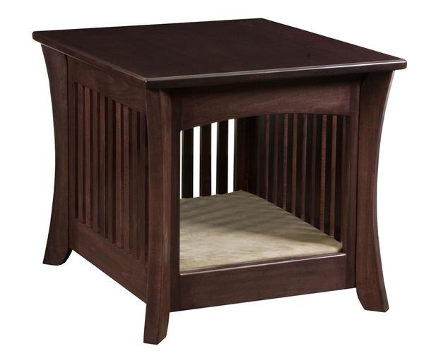 Amish Wood Caledonia Dog Bed End Table