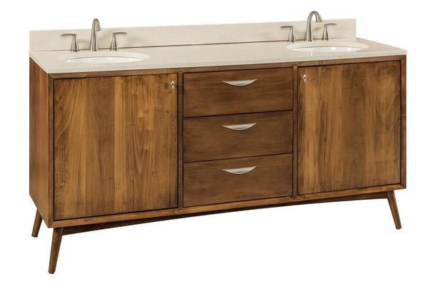 Amish Mid Century Modern Bathroom Vanity
