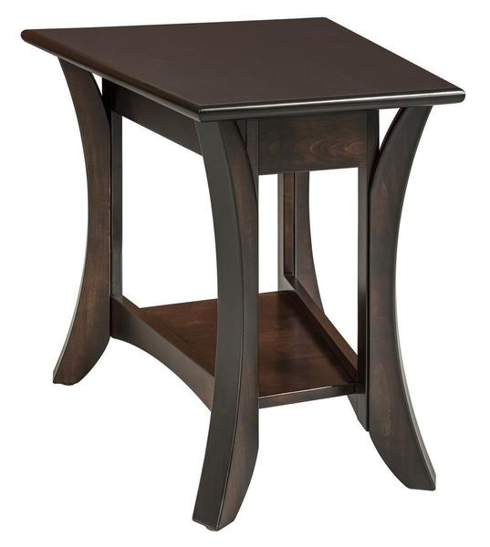 Amish Catalina Wedge Shaped End Table