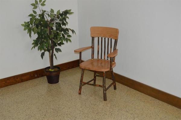Amish Rustic Hickory Dining Chair