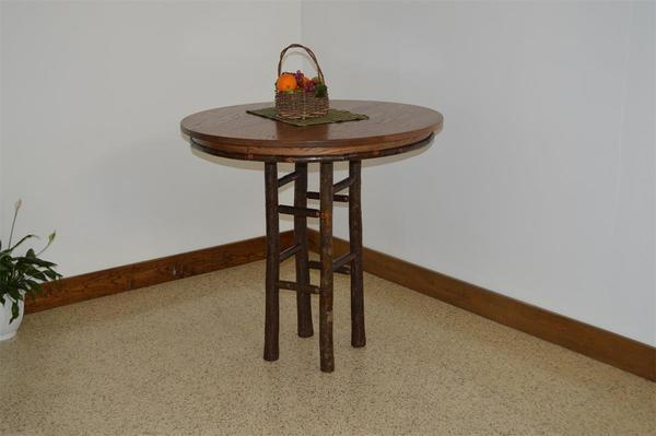 Amish Rustic Hickory Bar Table