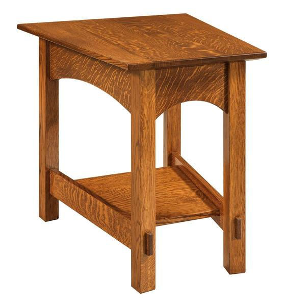 Amish McCoy Wedge Shaped End Table