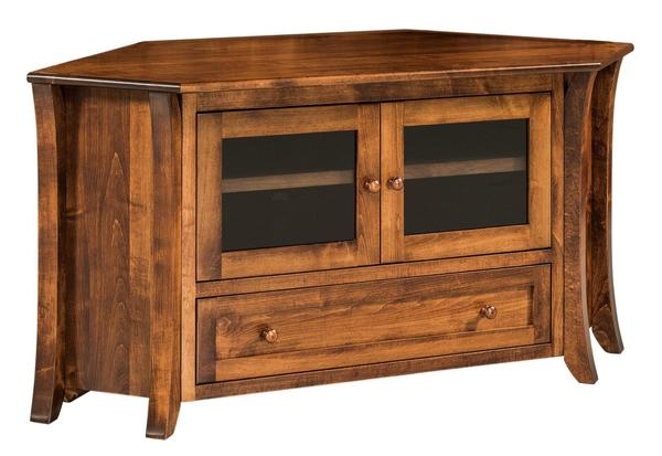 Amish Caledonia Flat Screen TV Corner Cabinet