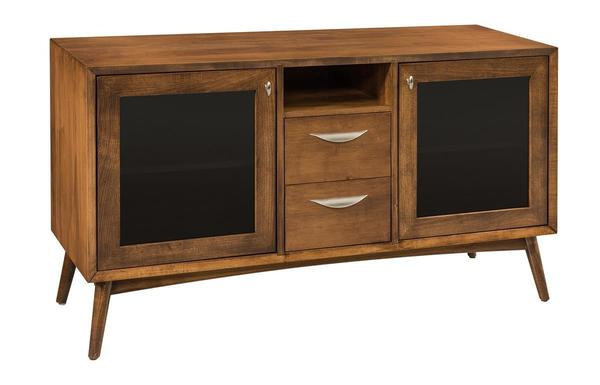 Amish Mid Century Modern Flat Screen TV Cabinet
