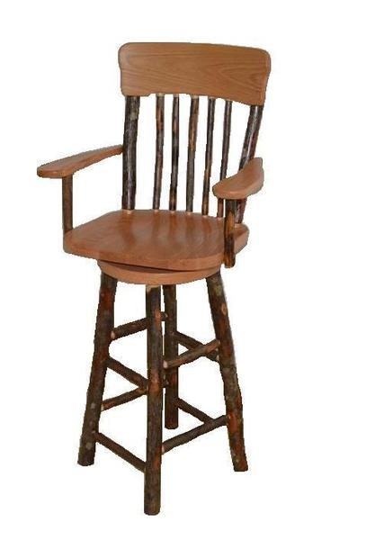 Amish Hickory Bar Stool