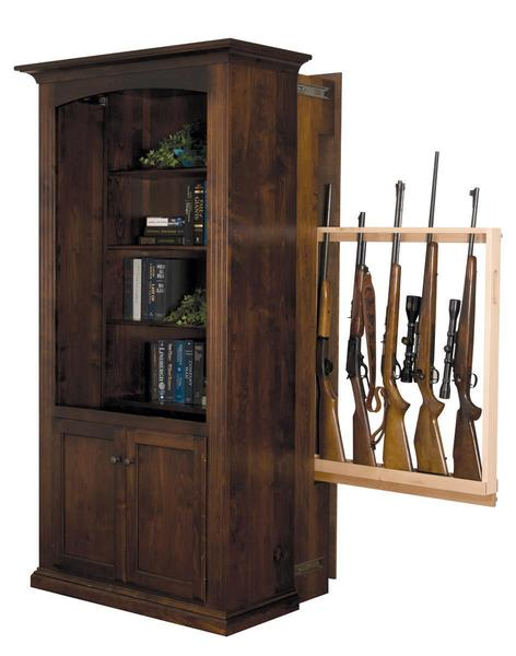 Patriot - Large Bookcase with Hidden Gun Cabinet