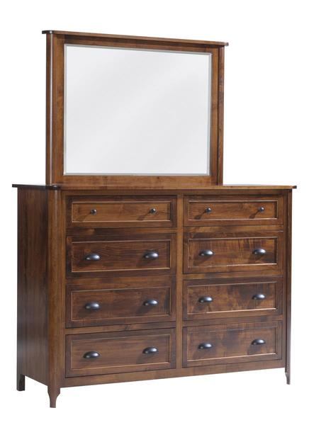 Amish Baldwin High Dresser with Optional Mirror