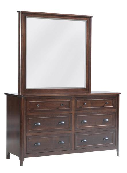 Amish Baldwin Dresser with Optional Mirror