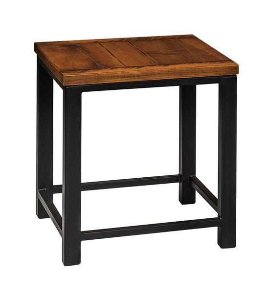 Amish Integrity End Table with Plank Top