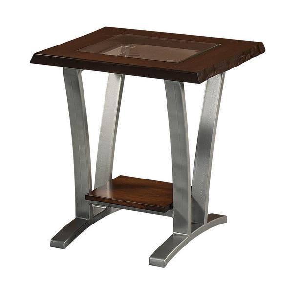 Amish Pagosa End Table with Glass Top