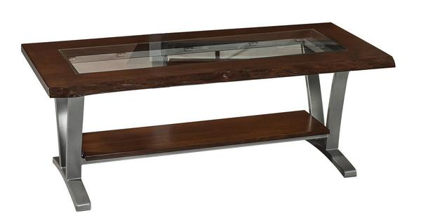 Amish Pagosa Coffee Table with Glass Top