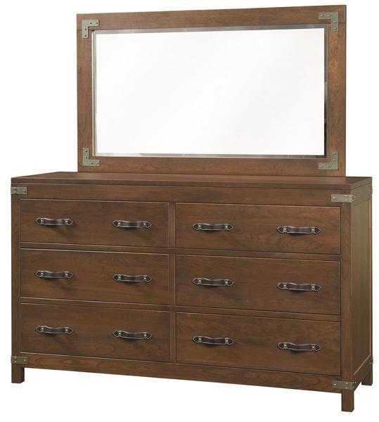 Amish Williamsport Six Drawer Dresser with Optional Mirror