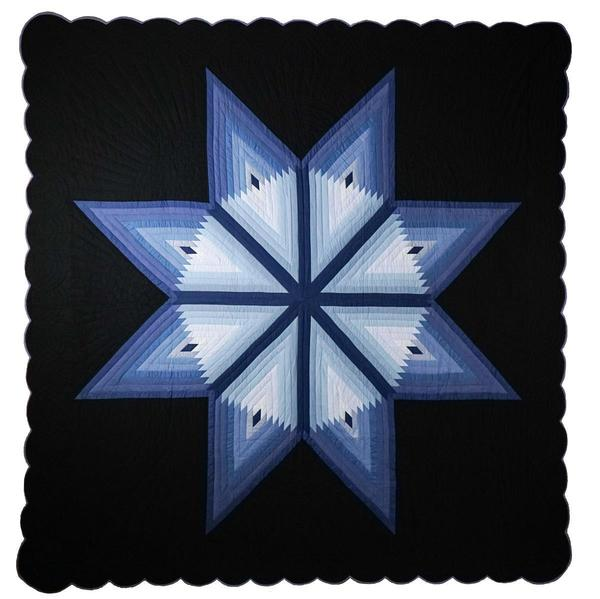 Lone Star Log Cabin Quilt