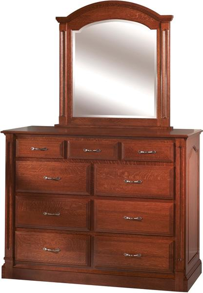 Amish Marcelle High Dresser with Optional Mirror