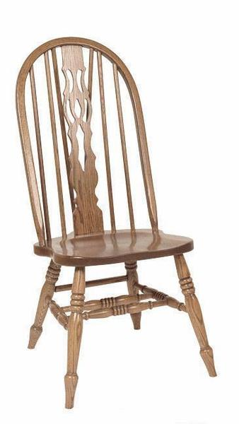 Amish Bow Back Fiddle Slot Dining Chair