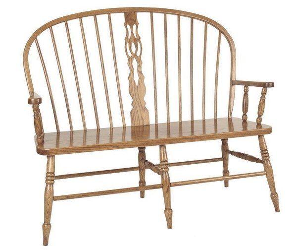 Amish Slot Windsor Bench