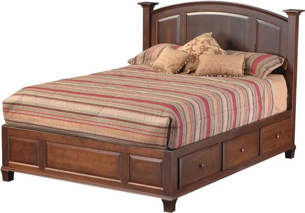 Amish Willow Glen Platform Bed with Six Drawers