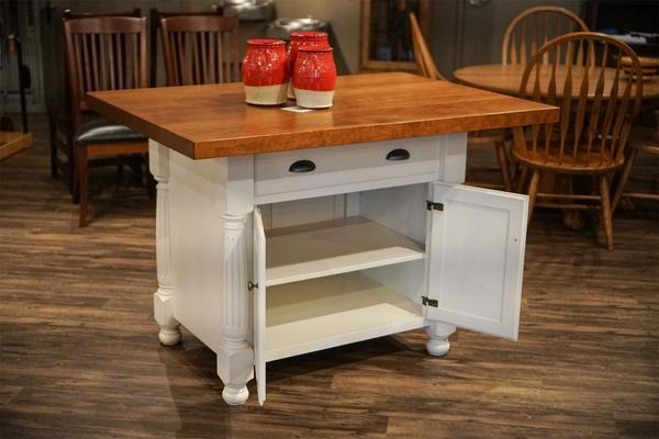 in stock cherry and maple wood french country kitchen island