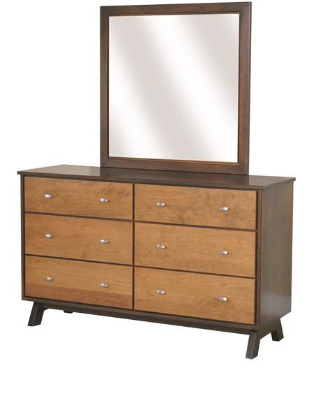 "Amish Avon Lake 58"" Dresser with Optional Mirror"