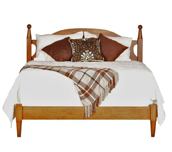 Amish Canterbury Turned Post Bed with Low Footboard