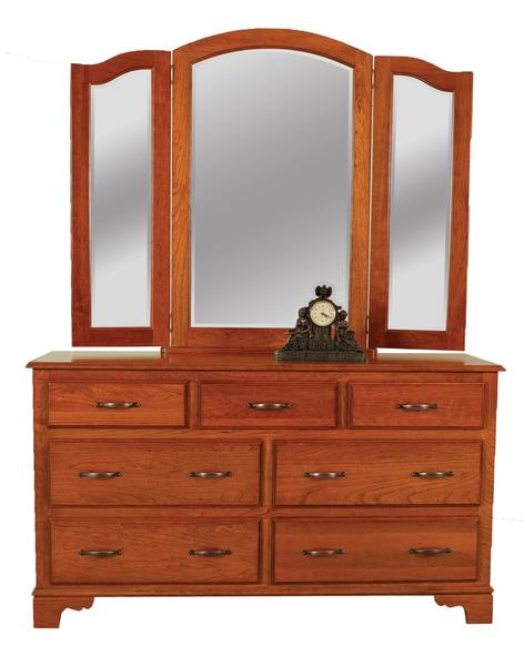"Amish Colonial 60"" Dresser with Optional Mirror"