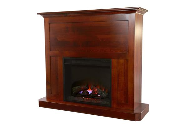 "Amish Fireplace Mantel with 23"" Insert"