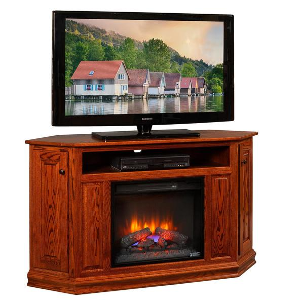 "Amish Corner TV Console with 23"" Insert"