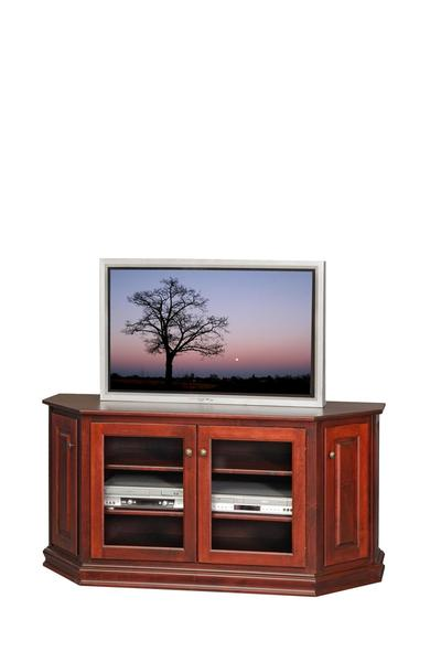 Amish Cant Front TV Console