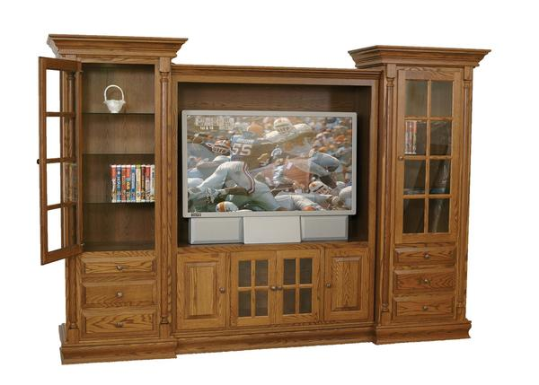 Amish Fairmont Three Piece Entertainment Center