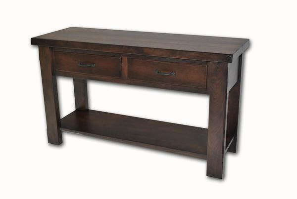 Amish Walnut Grove Sofa Table
