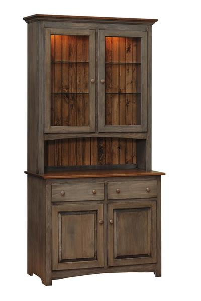 Amish Capri Pine Wood Buffet and Hutch
