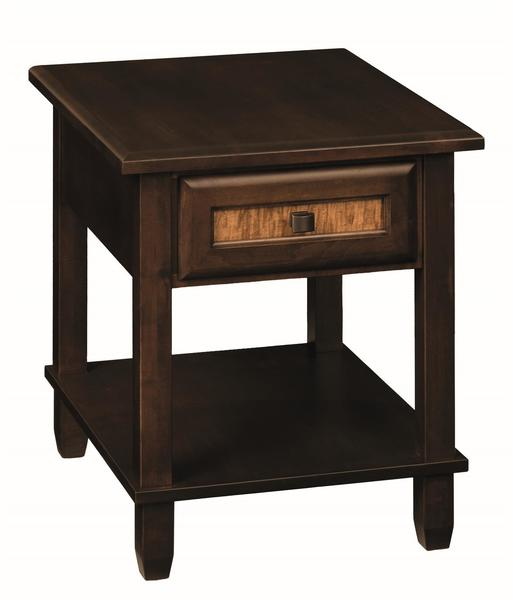 Amish Bayview End Table with Drawer