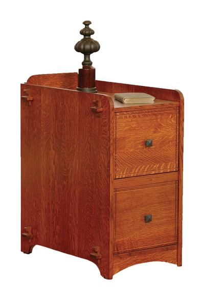 Amish Village Mission Two Drawer File Cabinet