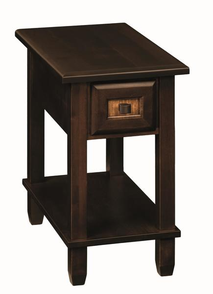 Amish Bayview Chair-Side End Table with Drawer