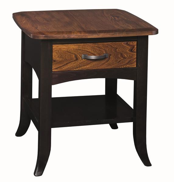 Amish Christy End Table with Drawer