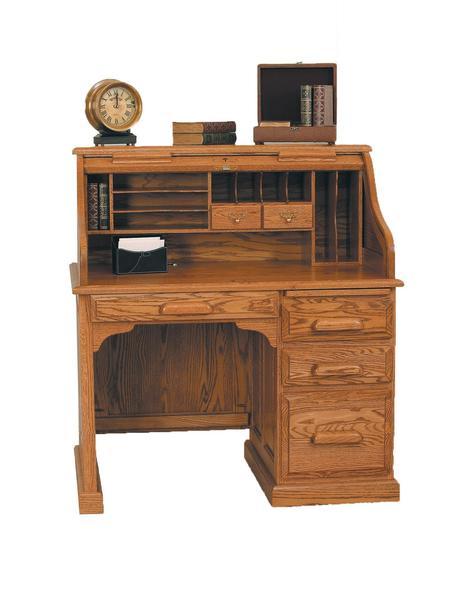 Amish Vintage Accent Rolltop Desk