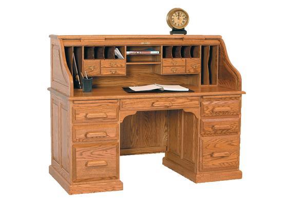 """Amish Vintage 60"""" Rolltop Desk"""