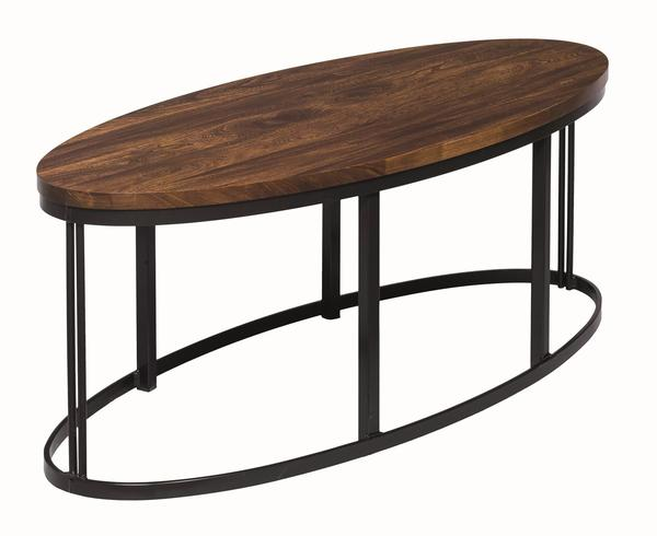Amish Malibu Oval Coffee Table