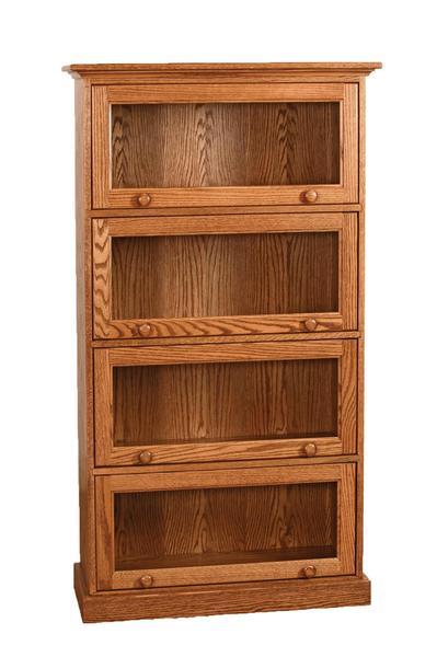 Amish Vintage Barrister Four Door Bookcase