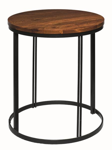 Amish Malibu Round Lamp Table