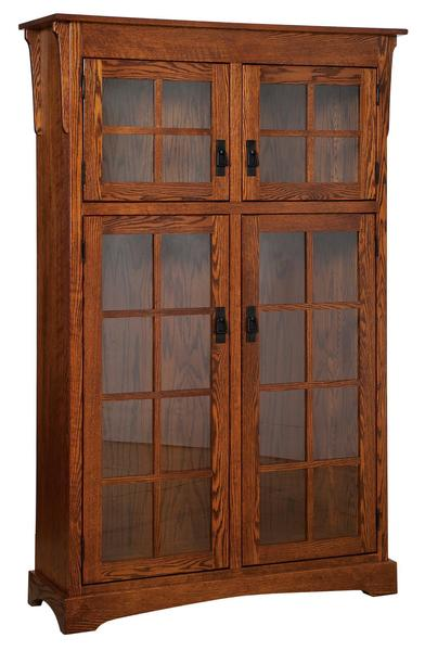 Amish Heritage Mission Bookcase with Canister Light