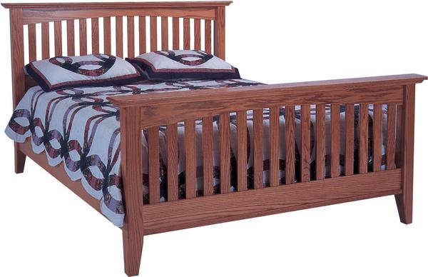 Amish Arch Mission Slat Bed