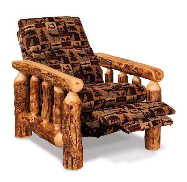 Amish Rustic Log Cabin Recliner