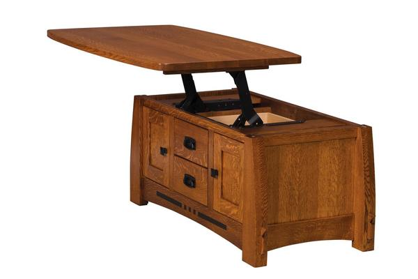 Amish Colebrook Coffee Table with Lift Top